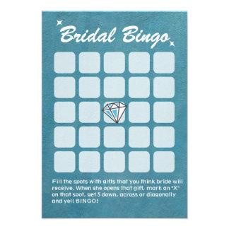 Tarjetas nupciales del bingo de la ducha del trull comunicados personalizados