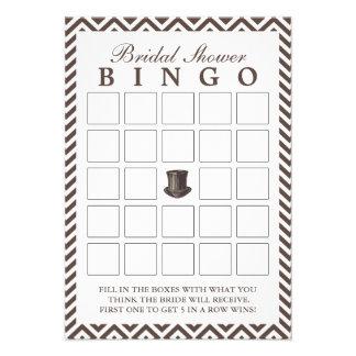 Tarjetas nupciales del bingo de la ducha del zigza comunicados