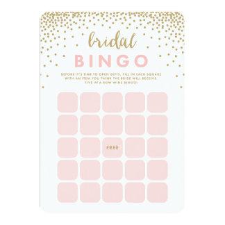 Tarjetas nupciales del bingo de la ducha el | del invitación 12,7 x 17,8 cm