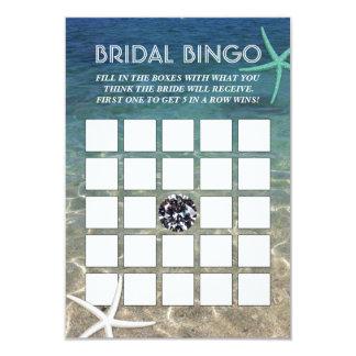 Tarjetas nupciales del bingo de la playa del invitación 8,9 x 12,7 cm