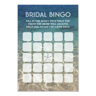 Tarjetas nupciales del bingo de las estrellas de invitación 8,9 x 12,7 cm