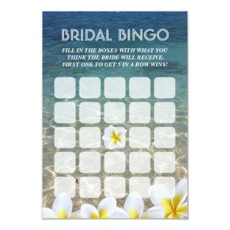 Tarjetas nupciales del bingo del boda de playa de invitación 8,9 x 12,7 cm