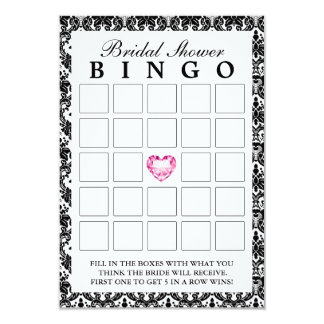 Tarjetas nupciales del bingo del damasco del invitación 8,9 x 12,7 cm