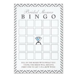 Tarjetas nupciales del bingo del zigzag de la invitación 8,9 x 12,7 cm