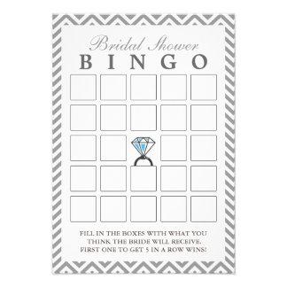 Tarjetas nupciales del bingo del zigzag de la plat invitación