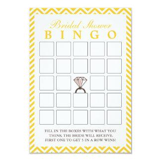 Tarjetas nupciales del bingo del zigzag del invitación 8,9 x 12,7 cm