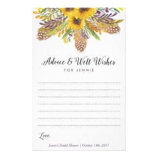 Tarjetas nupciales del consejo de la ducha del folleto 14 x 21,6 cm