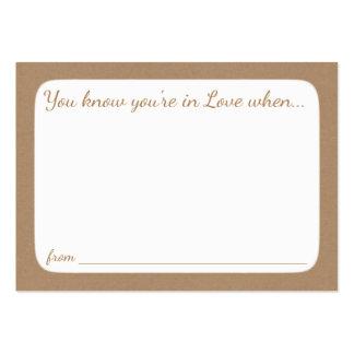 Tarjetas nupciales del consejo de la ducha tarjetas de visita grandes