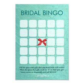 Tarjetas nupciales elegantes del bingo de la verde invitación 8,9 x 12,7 cm