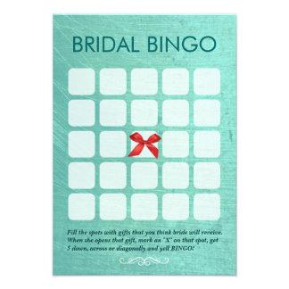 Tarjetas nupciales elegantes del bingo de la verde comunicados