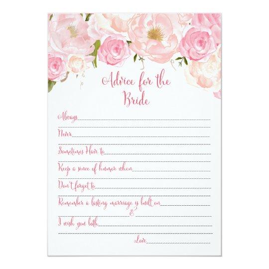 Tarjetas nupciales florales del consejo de la