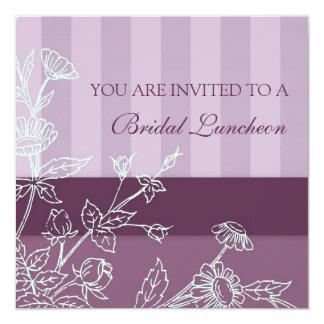 Tarjetas nupciales florales púrpuras de la invitación 13,3 cm x 13,3cm