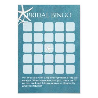 Tarjetas nupciales náuticas del bingo de la ducha comunicado