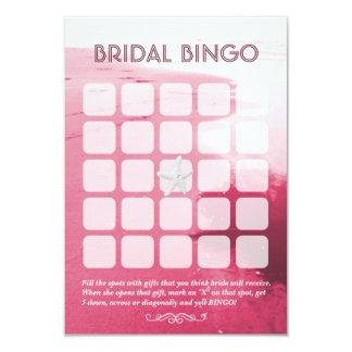 Tarjetas nupciales rosadas con clase del bingo del invitación 8,9 x 12,7 cm