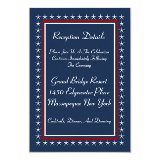 Tarjetas patrióticas militares de la recepción