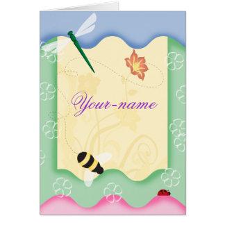 Tarjetas personalizadas abeja de la flor