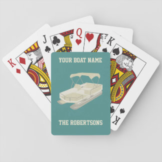 Tarjetas personalizadas barco el pontón del trullo baraja de cartas