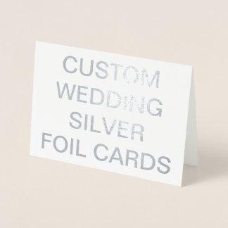 Tarjetas personalizadas boda de encargo del efecto