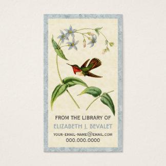 Tarjetas personalizadas colibrí centelleante de