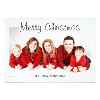 Tarjetas personalizadas de la foto del navidad invitación 12,7 x 17,8 cm