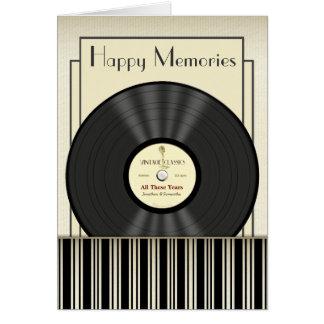 Tarjetas personalizadas disco de vinilo del micróf