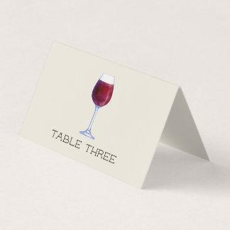 Tarjetas personalizadas vino del lugar de la tabla