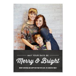 Tarjetas planas de la foto de las Felices Navidad Invitación 12,7 X 17,8 Cm