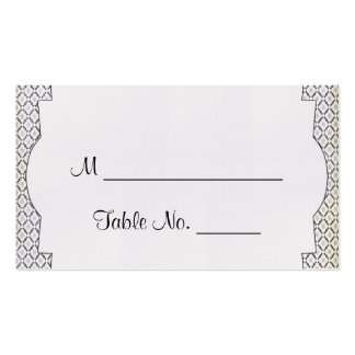 Tarjetas poner crema negras del lugar del boda de  tarjeta de negocio