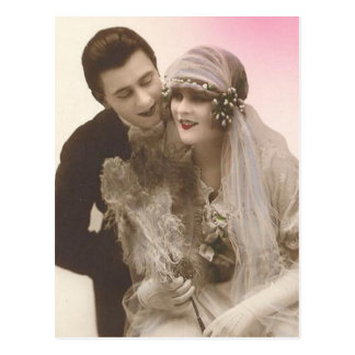 Tarjetas preciosas de novia y del novio de la