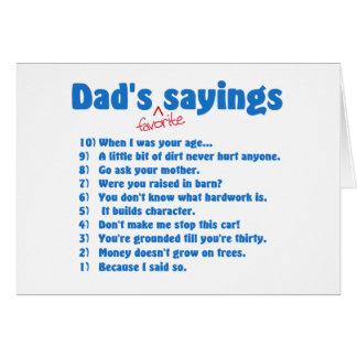 Tarjetas preferidas de los refranes de los papás