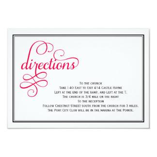 Tarjetas profundas de las direcciones del boda de invitación 8,9 x 12,7 cm