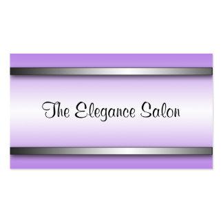 Tarjetas púrpuras brillantes y sofisticadas de la  plantilla de tarjeta de visita