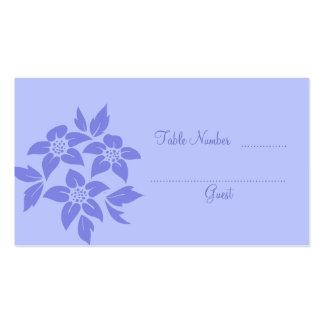 Tarjetas púrpuras del lugar de la tabla del boda d tarjetas de visita