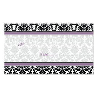 Tarjetas púrpuras, negras, blancas del lugar del b tarjeta personal