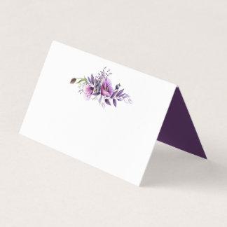 Tarjeta De Asiento Tarjetas púrpuras violetas del lugar de los