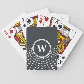 Tarjetas que juegan personalizadas del monograma baraja de cartas