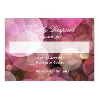 Tarjetas que se casan abstractas púrpuras rosadas