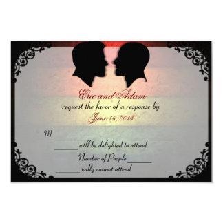Tarjetas que se casan gay de encargo de los invitación 8,9 x 12,7 cm