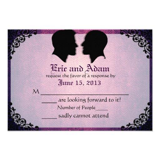 Tarjetas que se casan gay de encargo de los marido invitacion personal