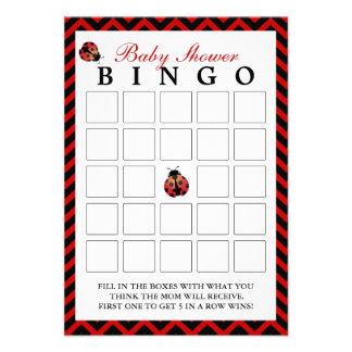 Tarjetas rojas del bingo de la fiesta de bienvenid invitacion personal