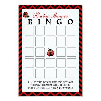 Tarjetas rojas del bingo de la fiesta de invitación 8,9 x 12,7 cm