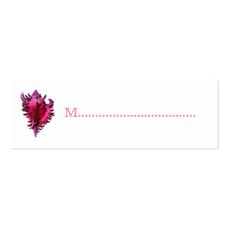 Tarjetas rosadas del asiento de la tabla de la rec tarjetas de negocios