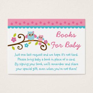 Tarjetas rosadas lindas de la petición del libro