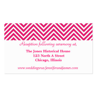 Tarjetas rosadas y blancas del recinto del boda de tarjeta personal
