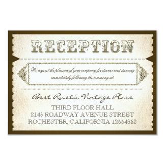 tarjetas rústicas de la recepción del vintage - invitación 8,9 x 12,7 cm