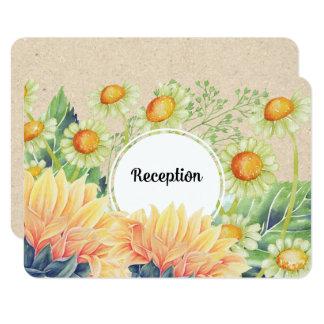 Tarjetas rústicas de la recepción nupcial de los invitación 8,9 x 12,7 cm