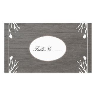 Tarjetas rústicas del acompañamiento de la huésped tarjetas de visita