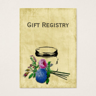 tarjetas rústicas del registro de regalos del