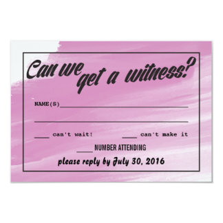 Tarjetas santas de RSVP del matrimonio Invitación 8,9 X 12,7 Cm