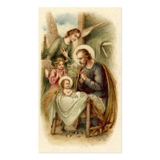 Tarjetas santas escritura Natividad de San José Tarjeta De Visita